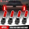 Светодиодные лампы 3156/3157/3057/4157/3457 тормозной светильник задний светильник красный светильник 12-24 В для Ford F150 Chevrolet Silverado 1500 GMC Sierra