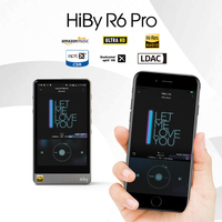 HiBy R6Pro Stainless Steel Android HiFi Lossless HiRes Music Player Dual ESS9028/WiFi/AirPlay/Bluetooth/LDAC/DSD/aptX/MQA/Tidal