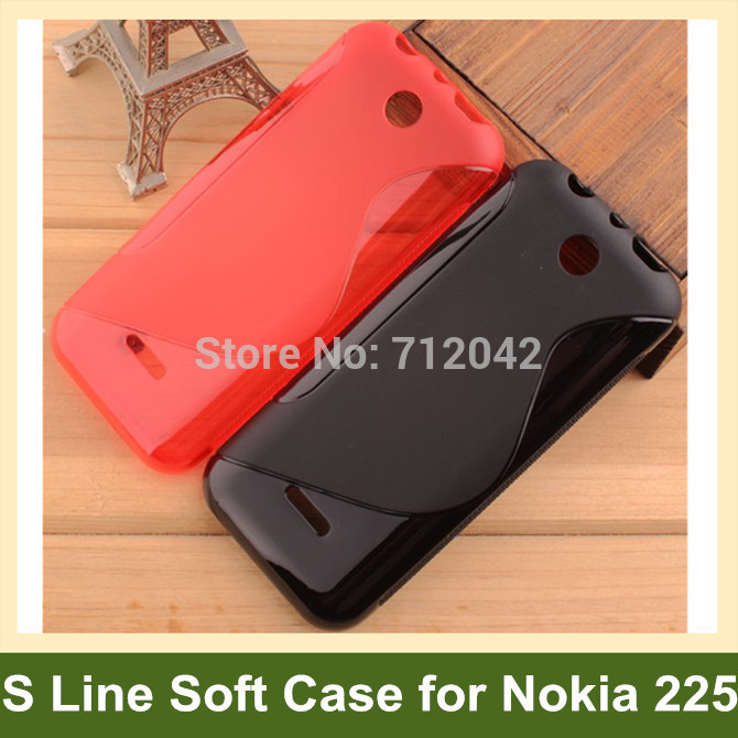 OEEKOI Multicolor S Line S Style Soft Gel TPU Cover Case for <font><b>Nokia</b></font> 230 225 <font><b>220</b></font> 8 Colors Drop Shipping image