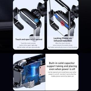 Image 5 - Baseus حامل هاتف السيارة تنفيس الهواء جبل دعم قوس سيارة شحن ل IP لسامسونج التلقائي سيارة صغيرة حامل هاتف الملحقات