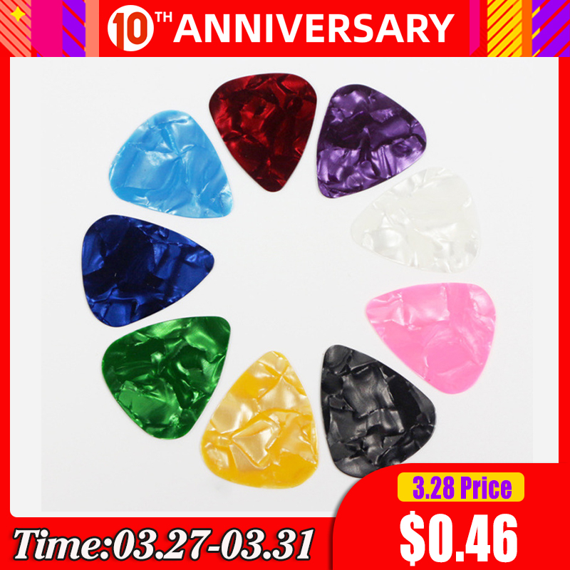 5/9/20 Pcs Acoustic Picks Plectrum Celluloid Ukulele Electric Smooth Guitar Pick Music Instrument Accessories 0.5mm 0.75mm 1mm