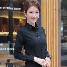 Korean Women Cotton Shirts White Shirt Women Long Sleeve Shirts Tops Office Lady Basic Shirt Blouses Plus Size Woman Blouse 5XL