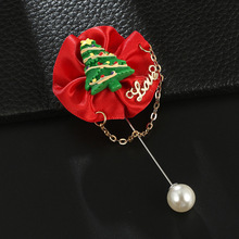 Brooches New Limited Tin Alloy Lovers Pearl Enamel Pin Series 2019 Christmas Tree Cap Santa Claus Gift Box Brooch Buckle