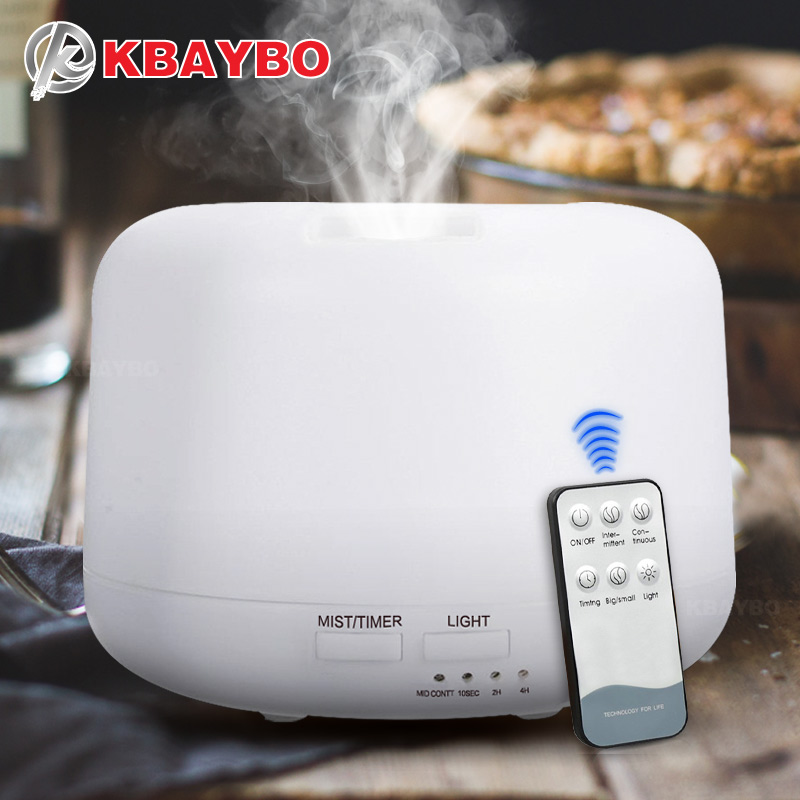 KBAYBO 300ML Remote Control  Ultrasonic Air Aroma Humidifier Electric Aromatherapy Essential Oil Aroma Diffuser