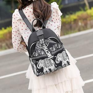 Image 2 - India Thai Style Women Backpack Leisure Ethnic Style High Quality Oxford Packbag Travel Female School Shoulder Back Bag for Girl