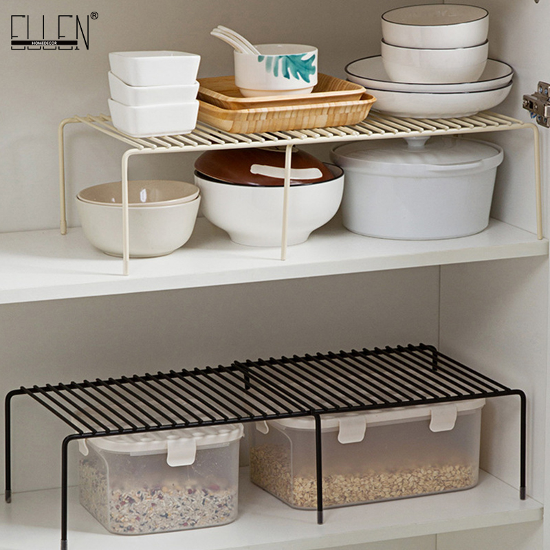 ELLEN Kitchen Storage Adjustable Cabinet Multi-layer Storage Condiment Pot Rack Bathroom Shelves EL5015