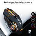 Беспроводная мышь 7 цветов дыхательный светильник перезаряжаемый настольный компьютер ноутбук 2 4G 6 кнопок игровая мышь