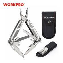WORKPRO 16 in1 متعدد الوظائف ذو طيات أدوات متعددة الفولاذ المقاوم للصدأ ذو طيات في الهواء الطلق أداة تخييم
