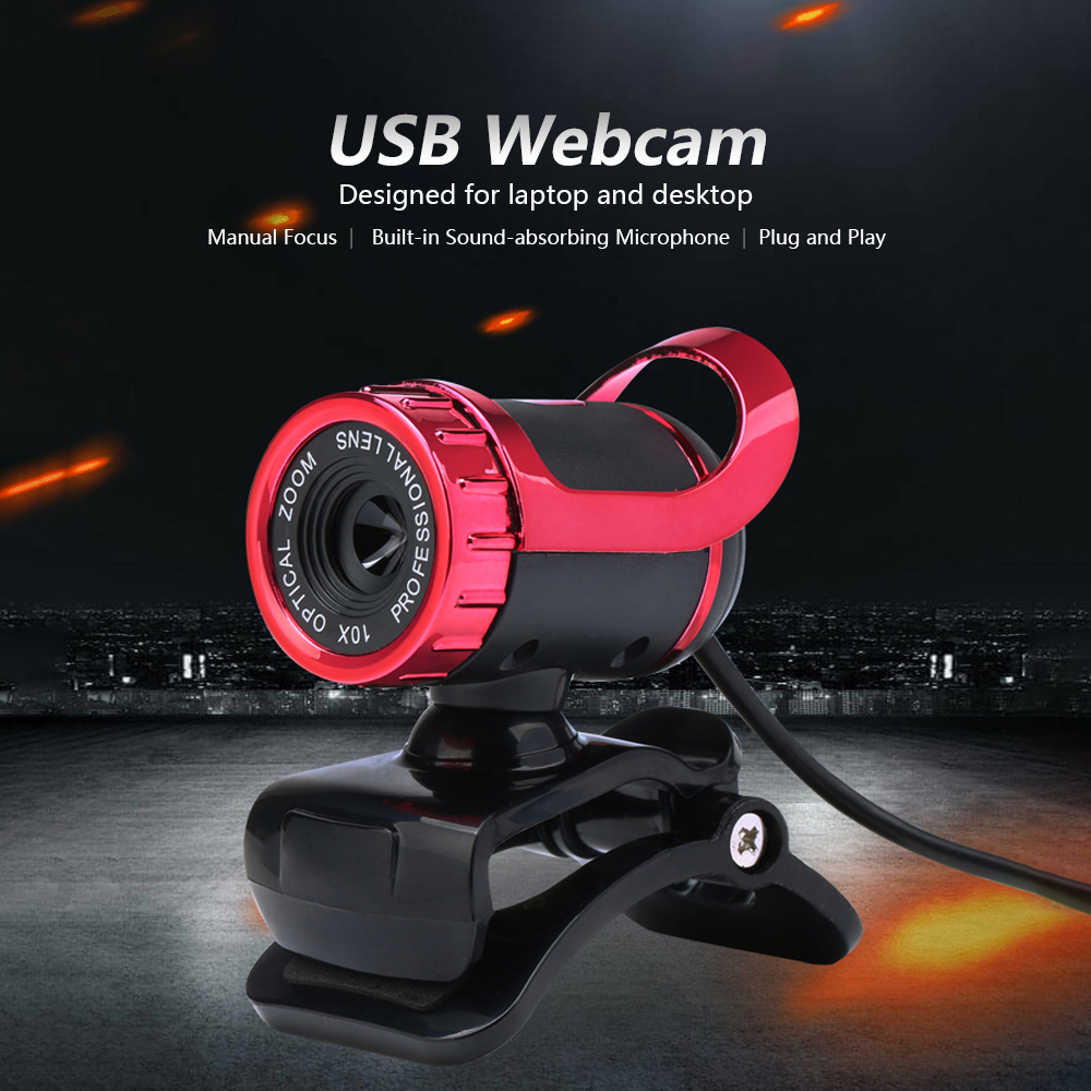 Webcam 12 Million Pixels High Definition Camera Web Cam 360 Degree Webcam USB MIC Clip-on For Laptop Desktop Computer Accessory