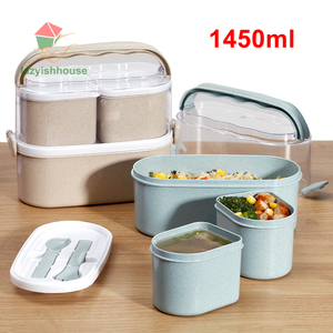 Image 2 - heated food container for food bento box japanese thermal snack electric heated lunch box for kids with compartments lunchbox