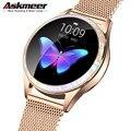 Женские умные часы KW20  модные и Симпатичные Смарт-часы с пульсометром  мониторингом сна  для IOS  Android  PK  H8  S3  KW10