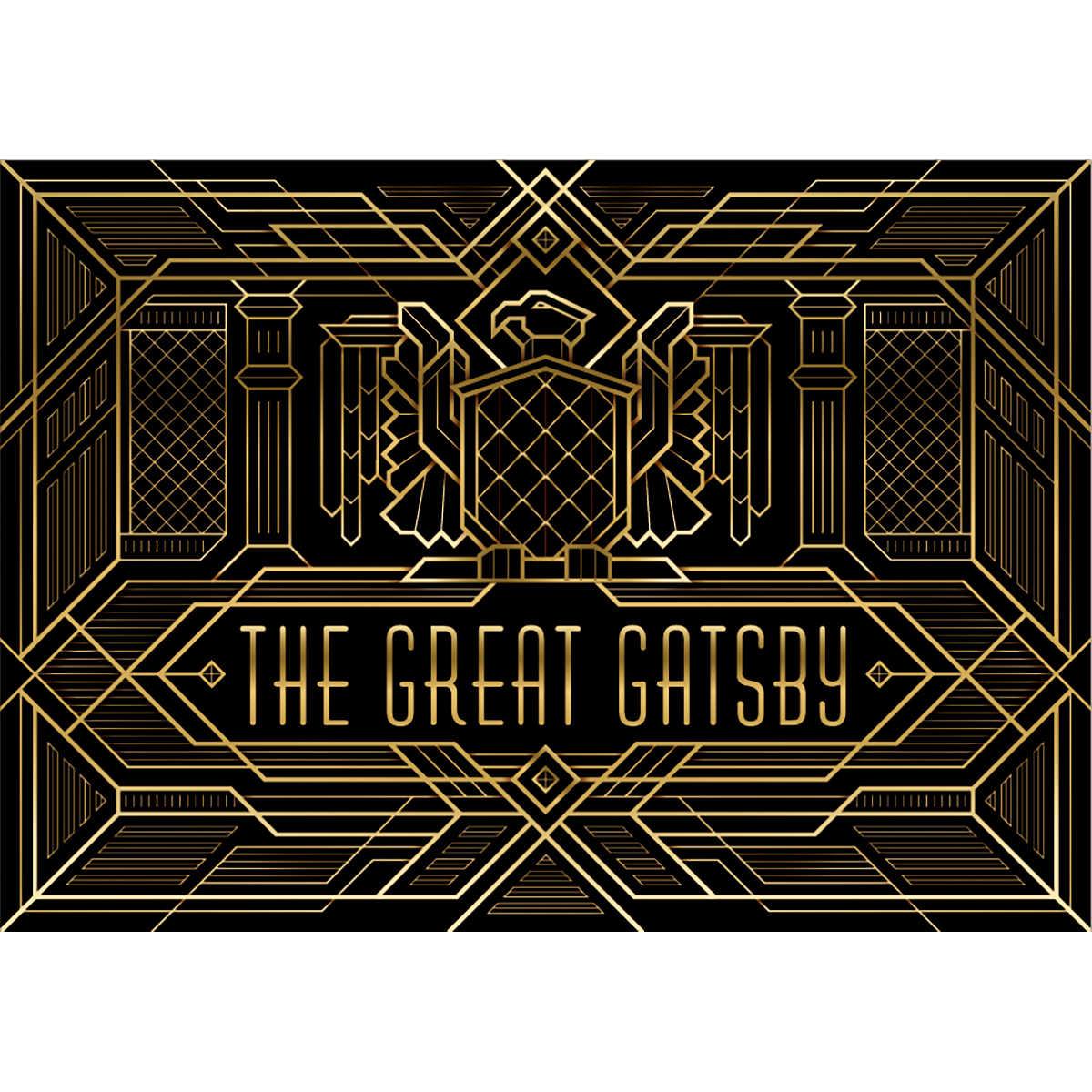 Allenjoy lujoso telón de fondo el tema del gran Gatsby Golden Palace Event Wall photozone adulto cumpleaños fiesta de celebración decoración de banner