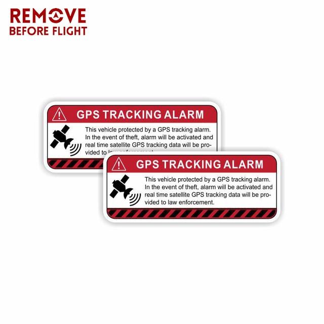 1 Pair GPS Tracking Warning Car Stickers Decal Self Adhesive Sign Vinyl