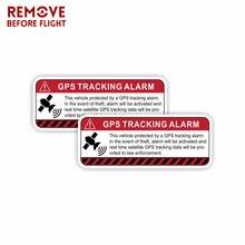 1 쌍 gps 추적 경고 자동차 스티커 데칼 자기 접착제 로그인 비닐