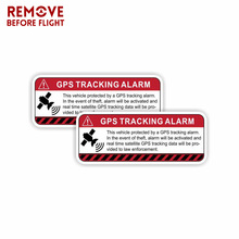 Pegatinas de vinilo autoadhesivas, 1 par, GPS, seguimiento, advertencia, Coche