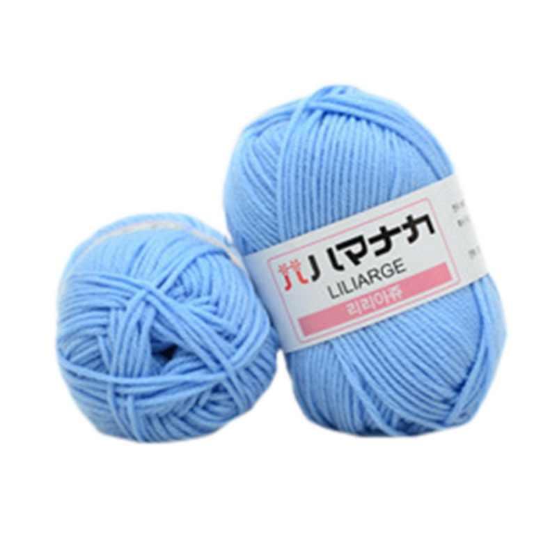 25g/bola suave hilo de ganchillo leche algodón DIY hilo cálido bebé para tejer a mano suministros suéter manta bufanda Calcetines