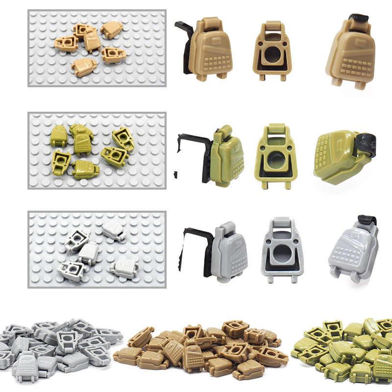 Военный Рюкзак Pubg строительные блоки аксессуары мировая война 2 поставка мини-оборудование военные фигурки поставка пакет подарки игрушки