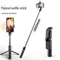 Il nuovo mini treppiede pieghevole senza fili bluetooth selfie stick con luce di riempimento otturatore telecomando selfie stick per IOS Android