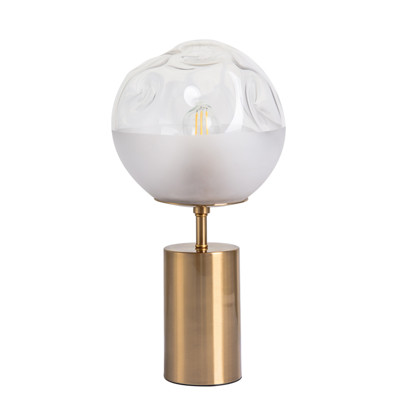 Gold Iron Glass E27 LED Bed Side  Table Lamp for Modern Bedroom Living Room Night Bedside art Decorative|LED Table Lamps| |  - title=