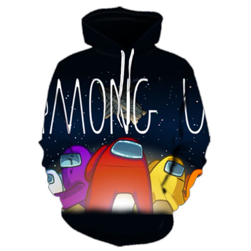 Among Us Adult 3D Printing Casual Hoodie Sweatshirt Pullover for Men and Women Funs