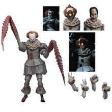 Met LED Originele NECA 4 Heads Stephen King's Het Ultieme Pennywise Action Figure Model Speelgoed Pop Voor Gift(China)