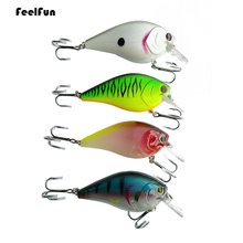 FeelFun 1PC 8cm 16g Crankbait Fishing Lure Artificial Crank Hard Bait Topwater Minnow Fishing Wobblers Japan Fish Lures 1pc crank bait plastic hard lures 36mm fishing baits crankbait wobblers freshwater fish lure free shipment