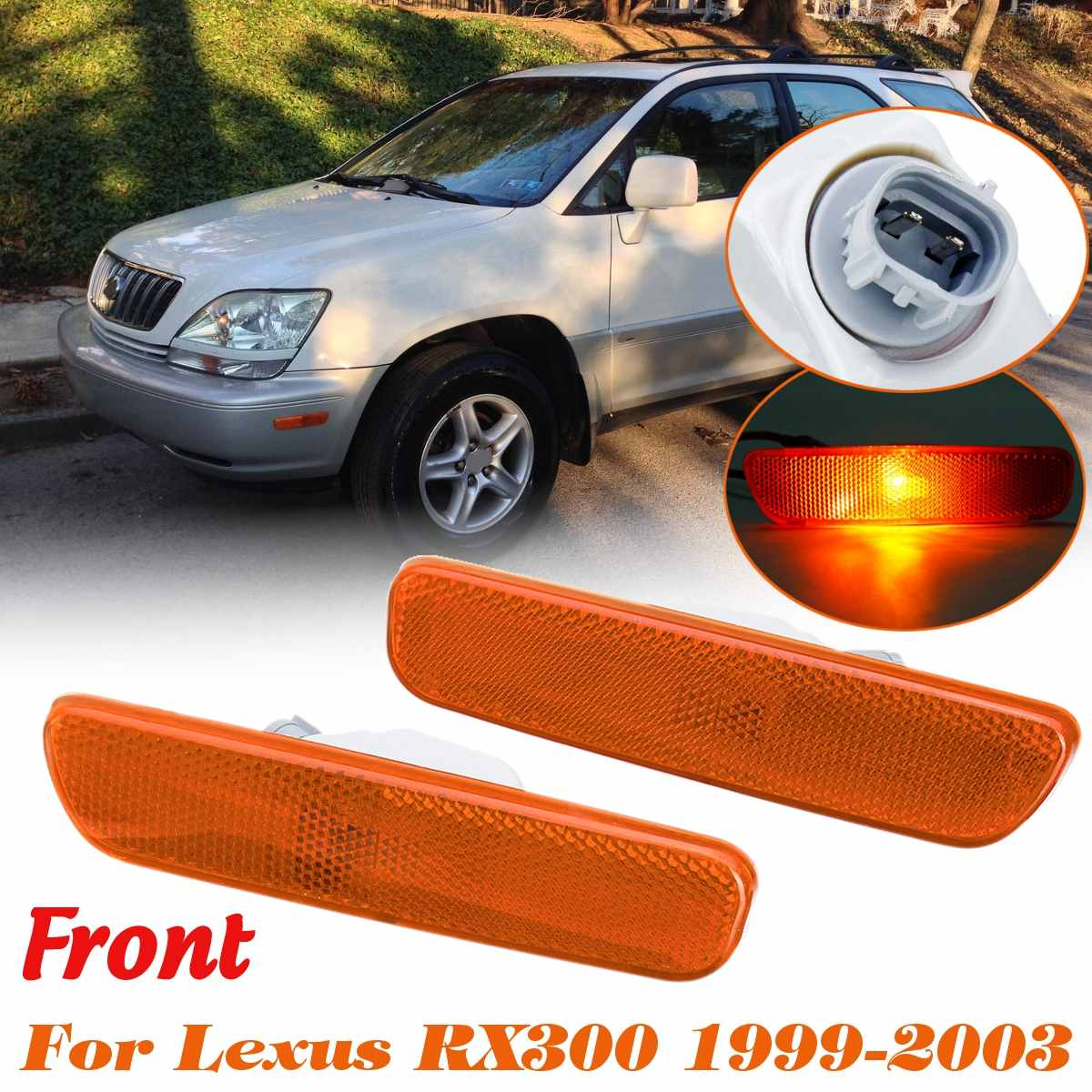 #81740-48010 For <font><b>Lexus</b></font> <font><b>RX300</b></font> 1999 2000 2001 2002 2003 Left/Right Front Bumper Side Marker Light <font><b>Lamp</b></font> image