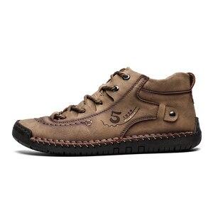Image 4 - Zapatos informales de cuero dividido para hombre, mocasines de talla grande, Super comodidad nieve, gran oferta
