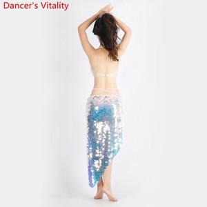 Image 4 - Mulheres dança do ventre 2 Tipos de roupas Que Bling Bling Do Terno Dança Bra + Saia 2Pcs Dança Latina Terno Roupas Da Moda S,M,L