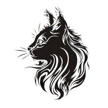 17*21CM Creative Pet Cat Car Sticker Vinyl Fation Personality Animal Styling Stickers Black