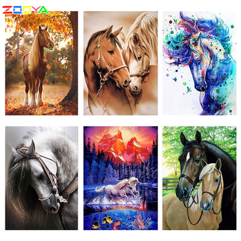 DIY 5D Full Drill Diamond Painting Horses Embroidery Cross Stitch Decor Gifts