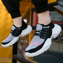 Men Vulcanized Shoes Tenis Casual 2019 Fashion Breathable Mesh Platform Chunky Sneakers