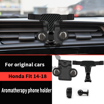 Carbon Fiber Internal Specialized Customized Front Central Console Aromatherapy Phone Stand Holder Fit For Honda Fit Jazz 14-18 image