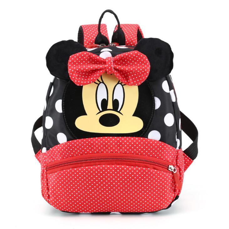 Disney Hot Selling children's Cartoon Backpack Minnie Mickey Mouse Children Lovely Schoolbag Kindergarten Schoolbag Kids Gift