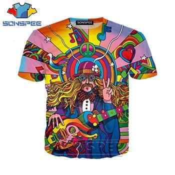 Anime 3d print hip hop t shirt Men Hippie Musician Women fashion t-shirt kid Harajuku top tees Funny shirts homme tshirt A243