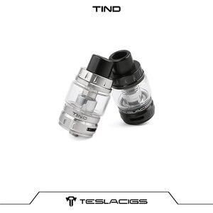 Image 3 - Original Teslacigs TESLA Tind Tank 28mm Diameter 4.5ml Mesh Tank Atomizer With 0.18ohm TS X3 Mesh Coil For Tesla P226 Mod