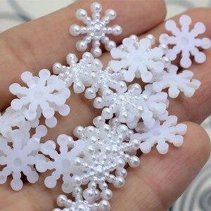 Image 5 - 100 יח\חבילה מיני לבן Snowflower DIY 3D Snowflower מדבקות רעיונות 2019 חג המולד 2020 חדש שנה בית קיר קישוט