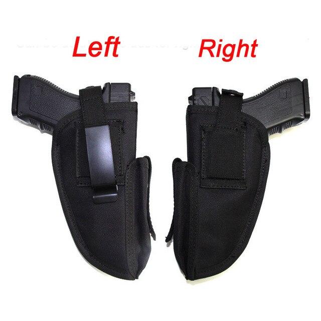 Right Left Hand Gun Holster Concealed Airsoft Pistol Holster for Glock Colt1911 Beretta M9 P226 Pistol Gun Case Magazine Bag 1