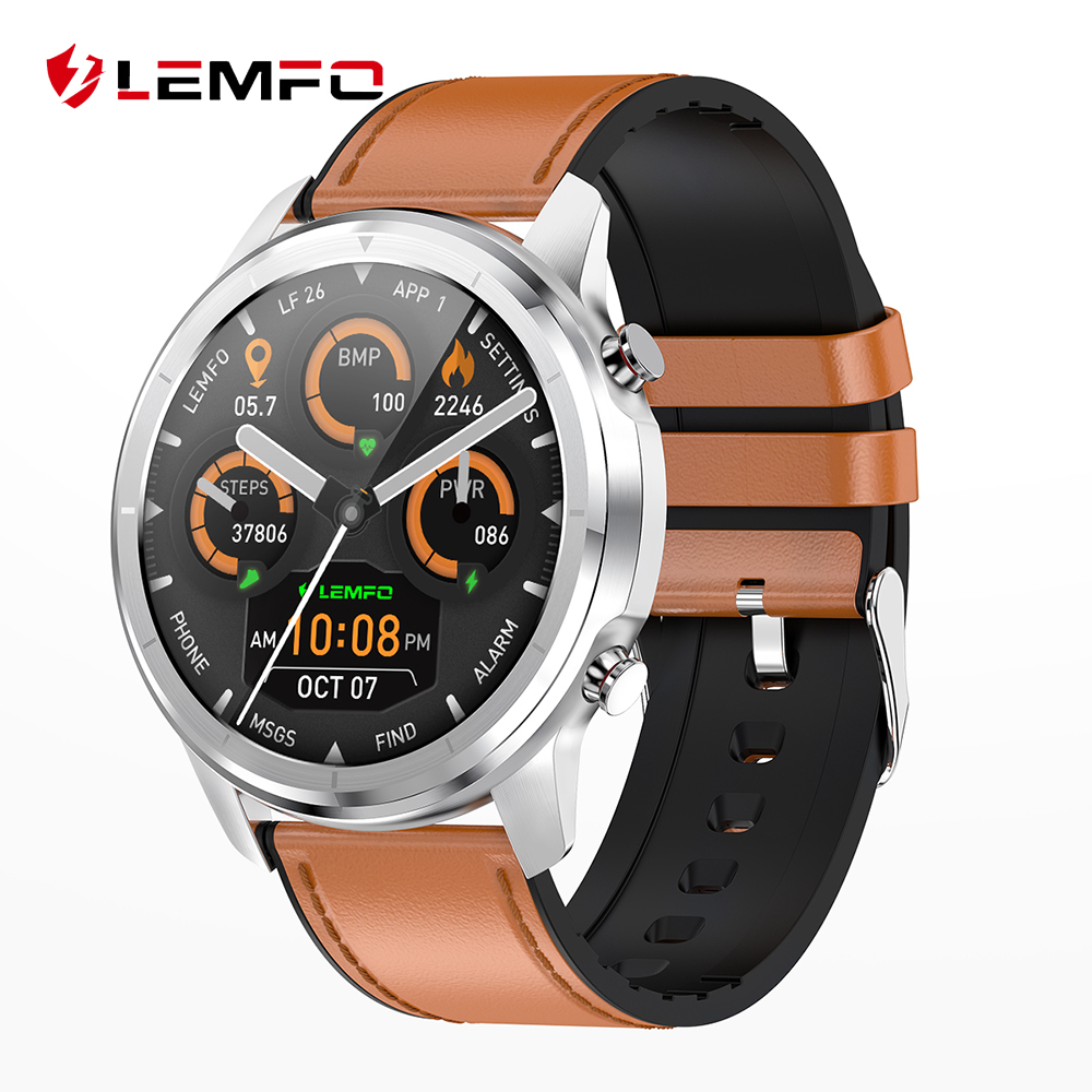 LEMFO LF26 Smart Watch 2020 Amoled IP67 Waterproof Heart Rate Blood Pressure Monitoring Fitness Tracker for Men Women Gift