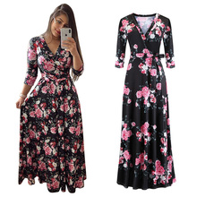 New Fashion Sexy Woman Dress Maternal Waistband Dresses with Loose Bandwidth Digital Printing Lady Clothing Women Casual Clothes