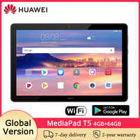 Versión Global HUAWEI MediaPad T5 10,1 pulgadas Tablet PC Android 8,0 4GB 64GB WiFi versión 1080P HD pantalla Dual Speaker 5100mAh