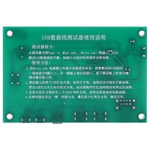 Image 2 - MOOL 3 ב 1 USB כבל שלישייה Tester טעינת כבל מבחן כרטיס Tpye C מיני USB MiniUSB PCB לוח נתונים חוט מבחן מתקן