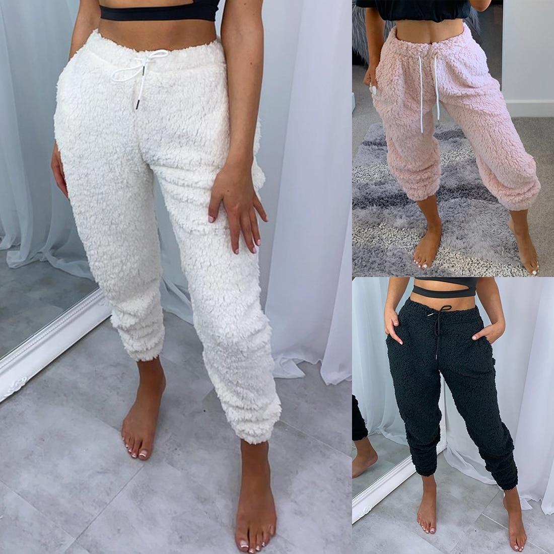 Pijama De Franela Para Mujer Pantalones Bombachos Pantalones Sueltos Elasticos De Invierno 2020 Cintura Solida Pijama Ropa Interior Para Dormir En Casa Pantalones Para Dormir Aliexpress