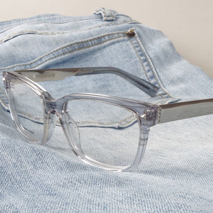 Image 3 - Marcos para gafas con receta rectangulares transparentes de acetato para mujer