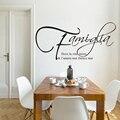 Citação Vinyl Decalques Família italiana Onde a vida começa o amor nunca termina Lettering Arte Adesivos de Parede Decoração de Interiores Casa AZ949
