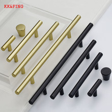 KK&FING Aluminum Alloy T Model Cabinet Handles Solid Drawer Knobs Wardrobe Closet Kitchen Door Furniture Hardware