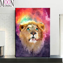 5d diy Алмазная картина льва мозаика полностью квадратная круглая