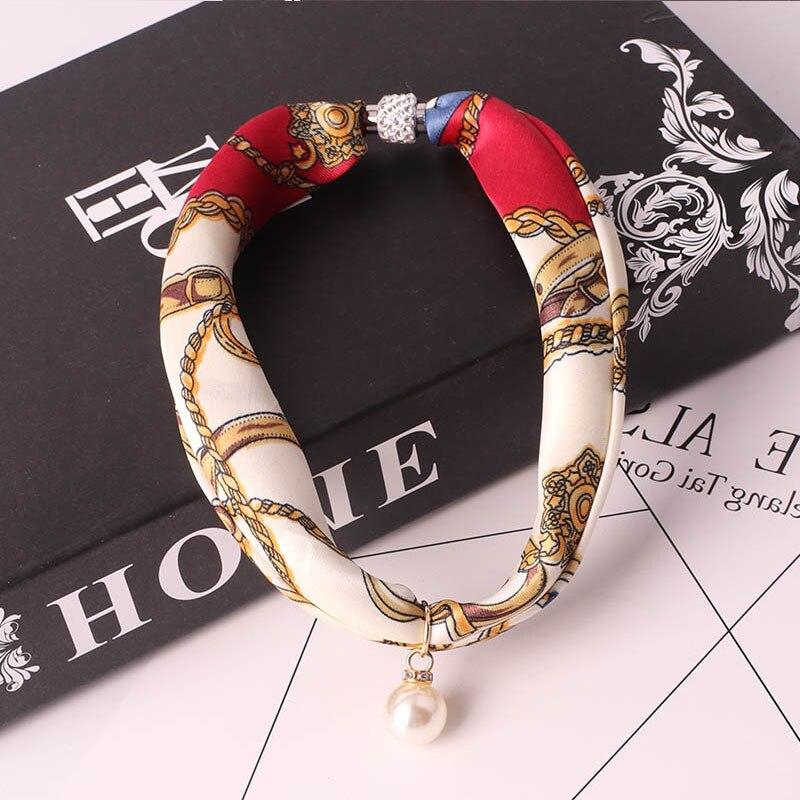 RUNMEIFA  Jewelry Statement Necklace Pendant Scarf Women Bohemia Neckerchief  Foulard Femme Accessories Hijab Stores