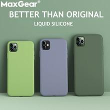 Жидкий силиконовый тонкий чехол для iPhone 11 Pro 5,8 XS Max 6 6S 7 8 Plus X XR 5S SE 4S, яркий чехол, мягкий чехол для iPhone11