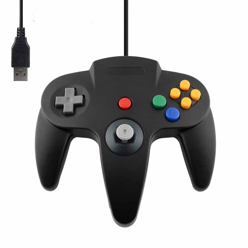 New Wired USB Gamepad joystick for N64 Classic Game Controller joypad For Windows PC Mac Control image